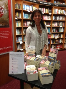 Top of the Goodreads Best Books To Read While Travelling chart for my book signing at Waterstones, Peterborough!